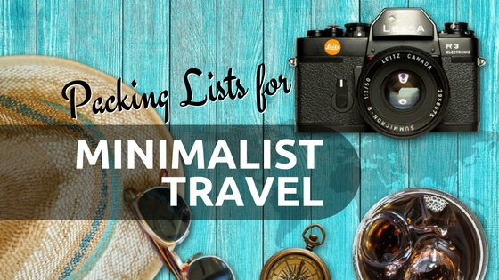 Check out our modifiable minimalist travel packing lists to help you get started.