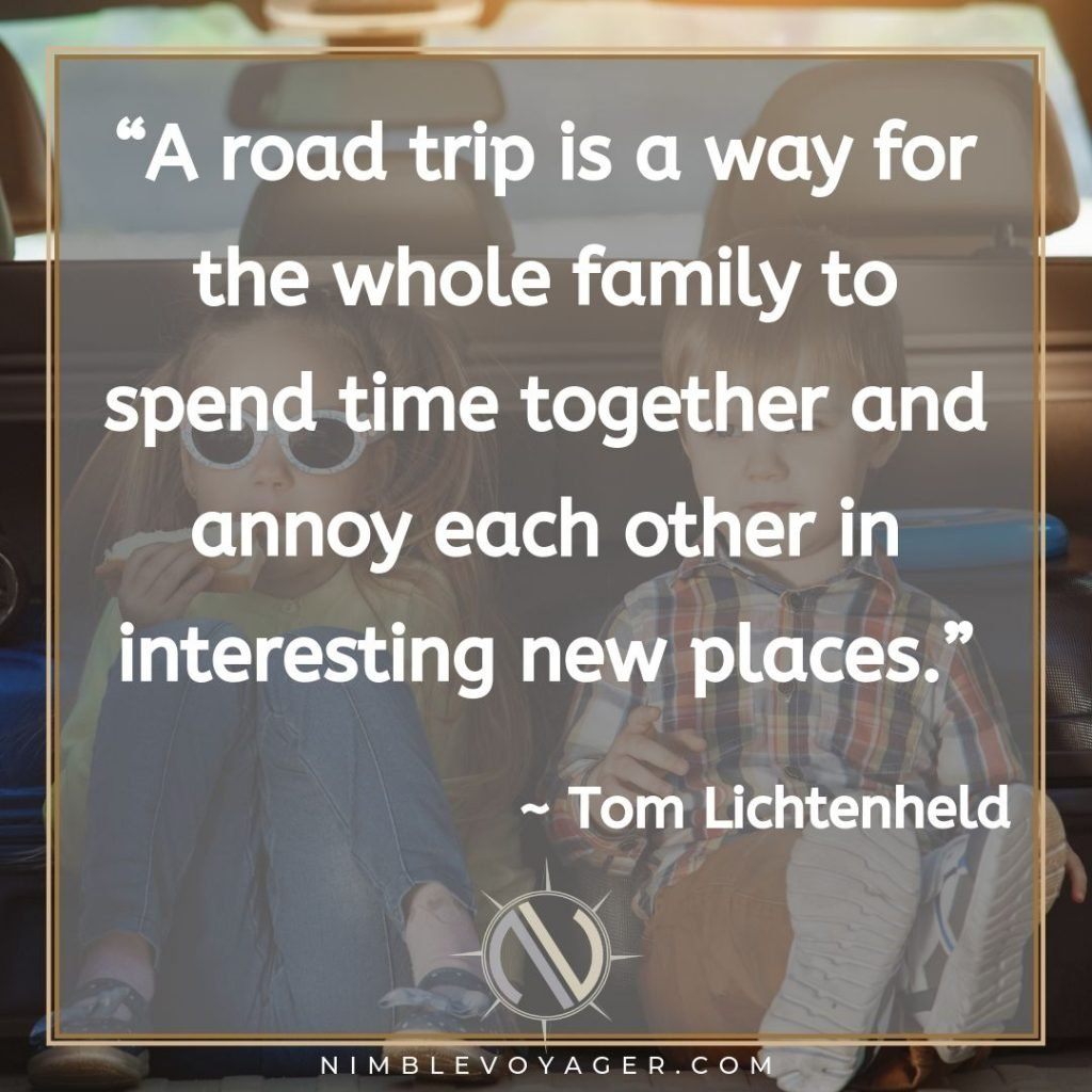 Family road trip quote