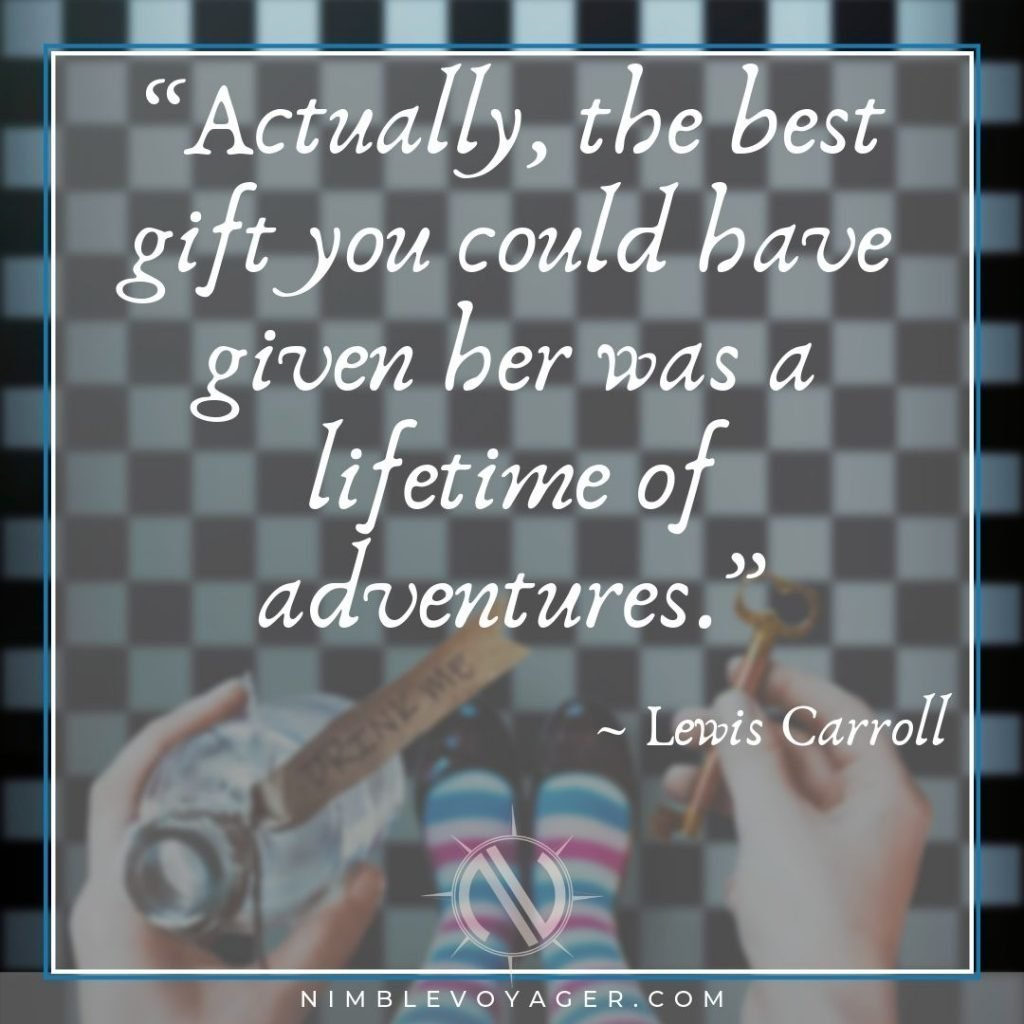 Lewis Carroll adventure travel quote