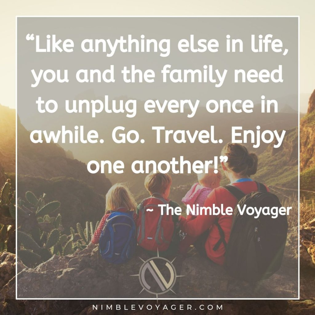 Family travel quotes - The Nimble Voyager